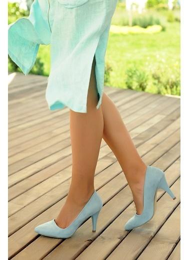 Pembe Potin Ayakkabı Mavi